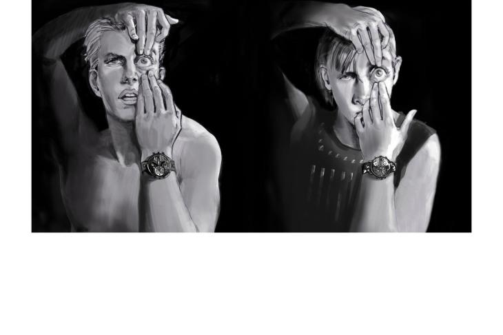 Paul CHAN - roughs & story -  - Noir & Blanc