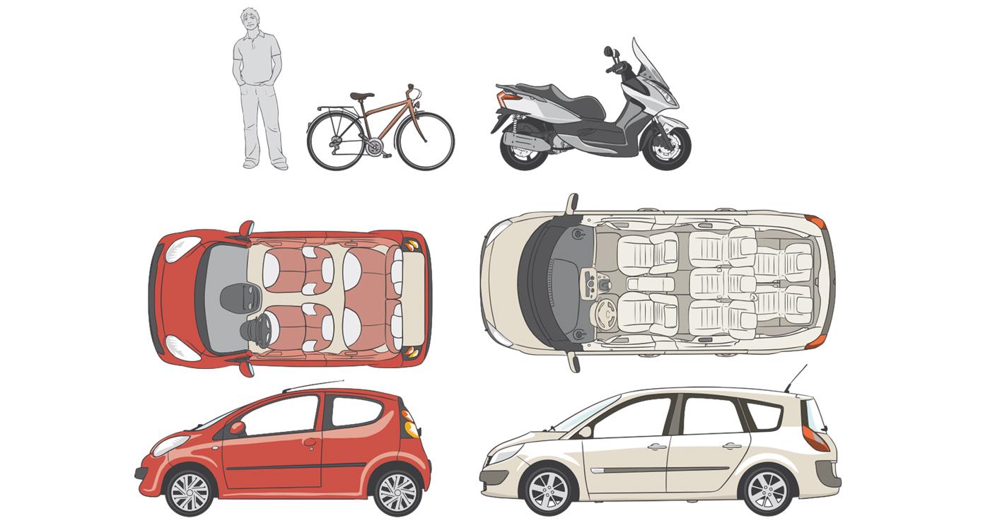 Aurelien-Boudault-illustration-transport-voiture-scooter