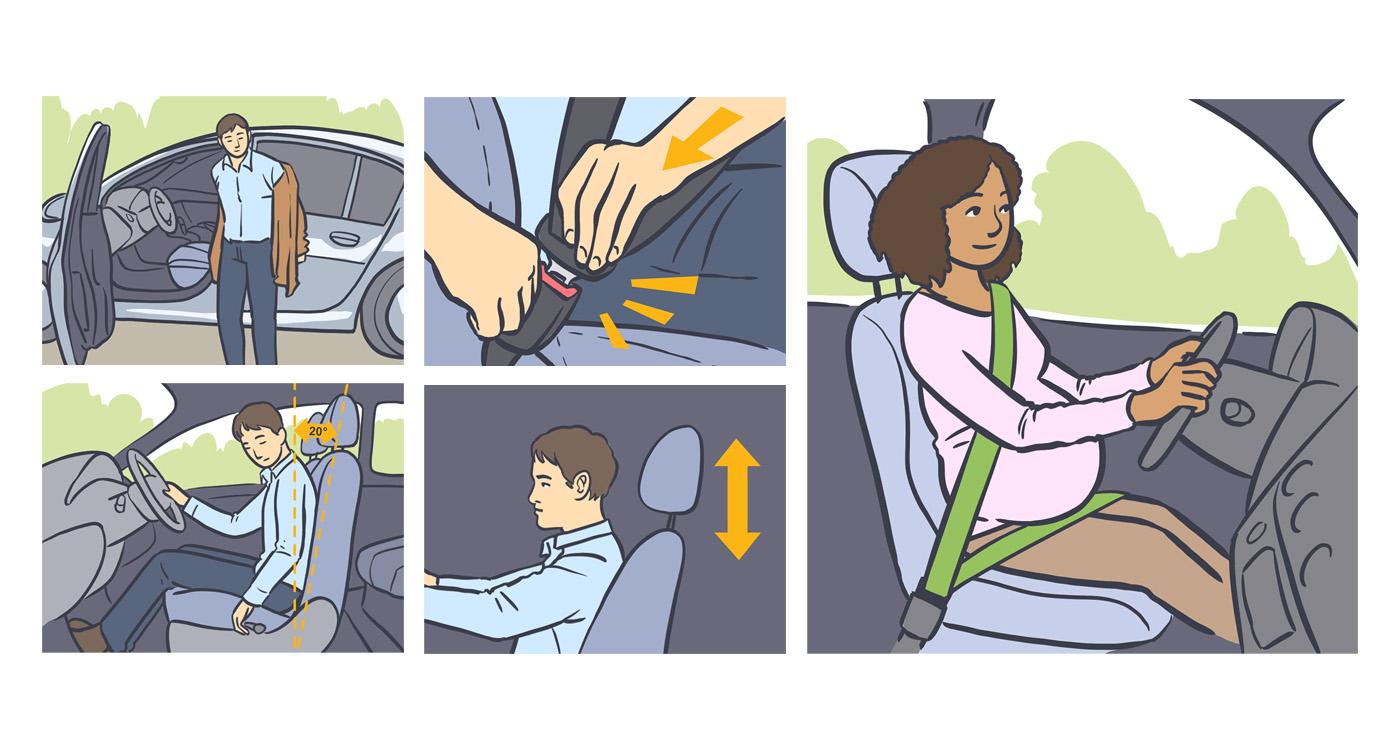 Aurelien Boudault story illustration rough board animation paper art voiture securite consigne lun et lautre