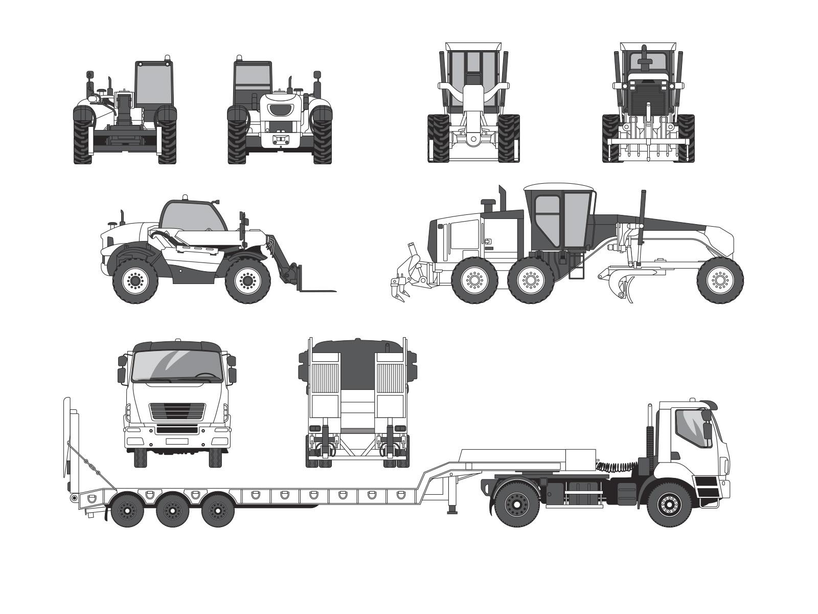 Aurelien-boudault-Vehicule-trait-camion-elevateur-niveleuse