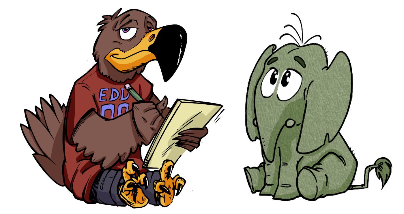 Illustration guillaume mazurage animaux elephant oiseau logo.03