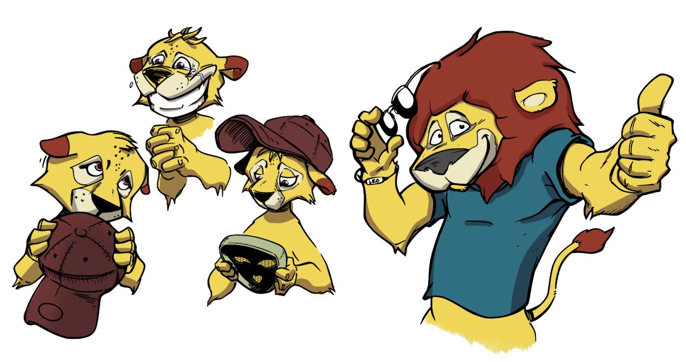 Illustration guillaume mazurage animaux lion logo.03