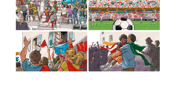 Jean Louis HUBERT - roughs & story -  - Story Board