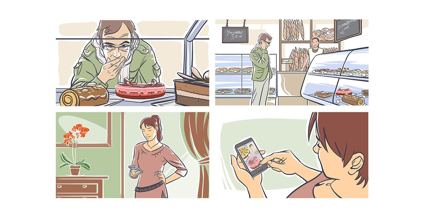 Storyboard-Aurelien-Boudault-telephone-communication-photo-sms-boulangerie