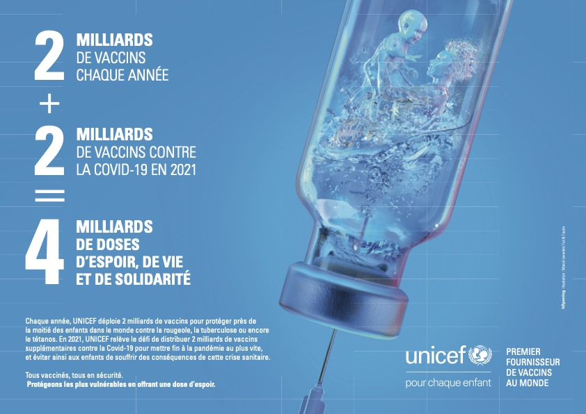 UNICEF Vaccination illustration lunlautre marcel laverdet 1