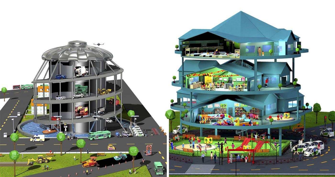 francois poulain illustration rough story board animation paper art urbanisme ugap lun et lautre