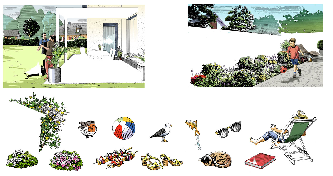 frederik illustration rough story board animation paper art gravure trait anglais 778 4 lun et lautre