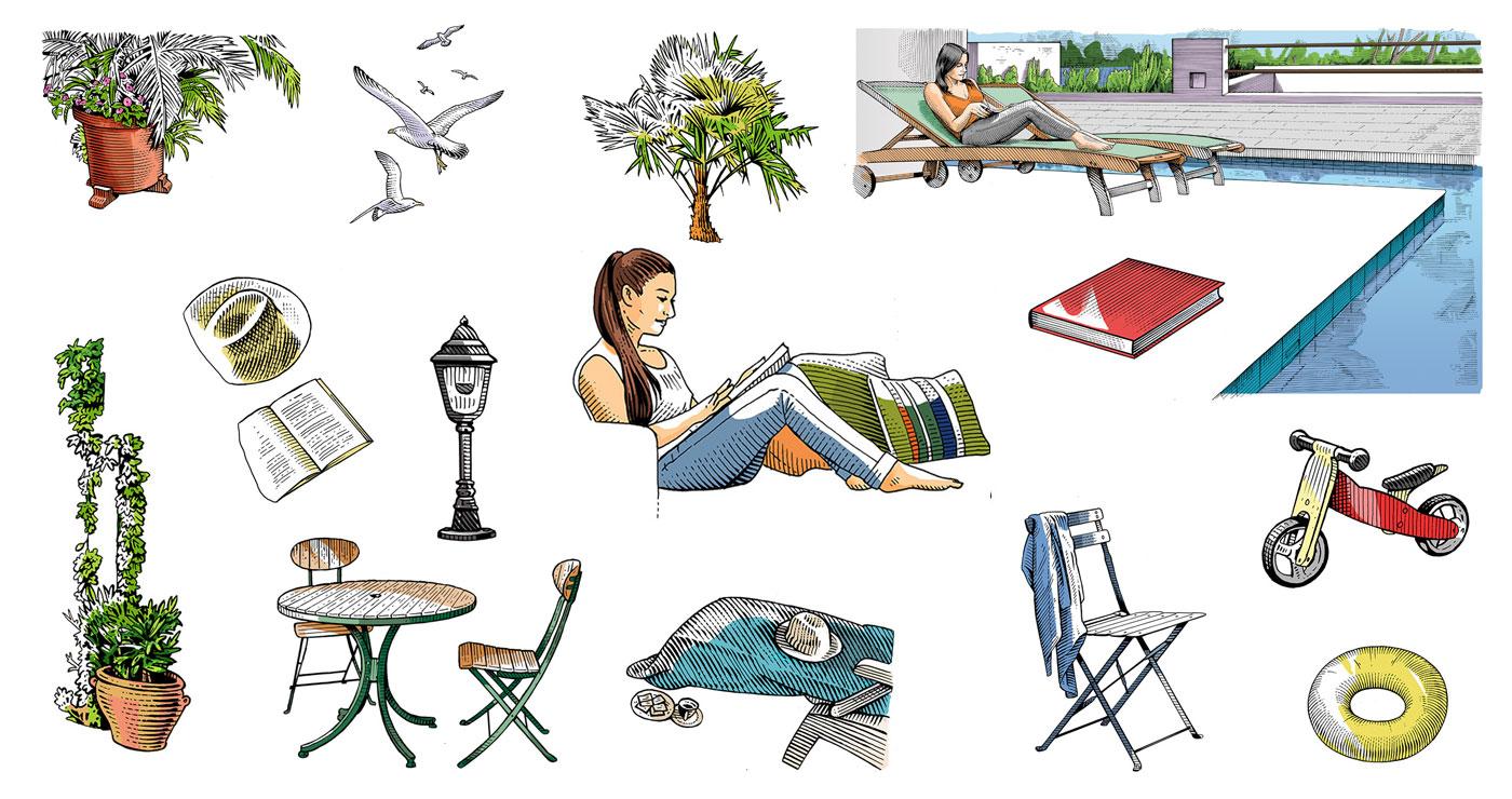 frederik illustration rough story board animation paper art gravure trait anglais 778 5 lun et lautre