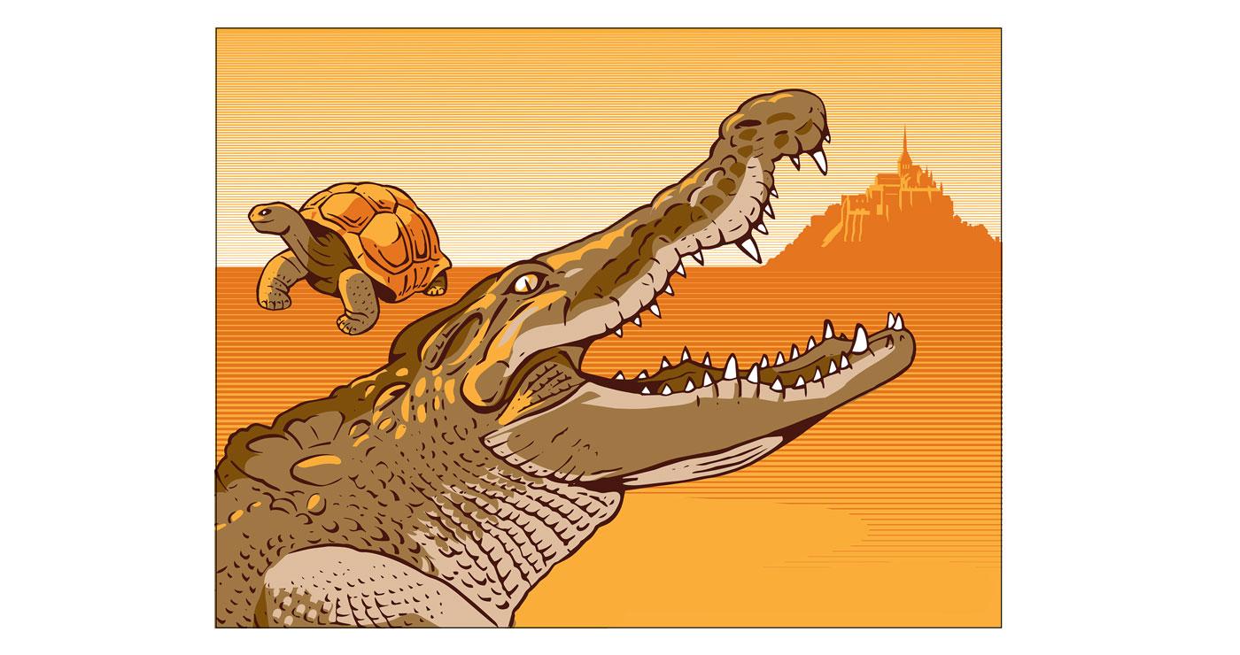 frederik illustration rough story board animation paper art gravure trait anglais animaux 794 lun et lautre