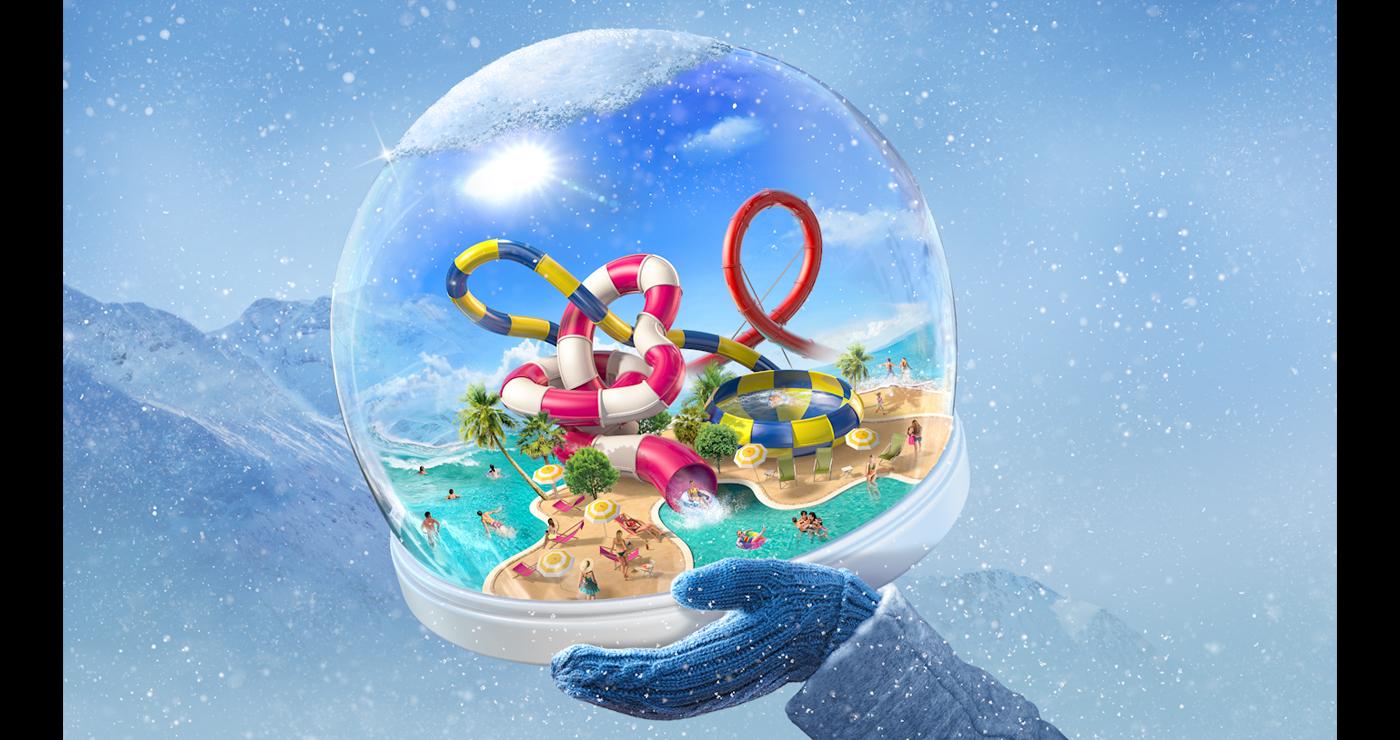 illustration 3D parc aquatique