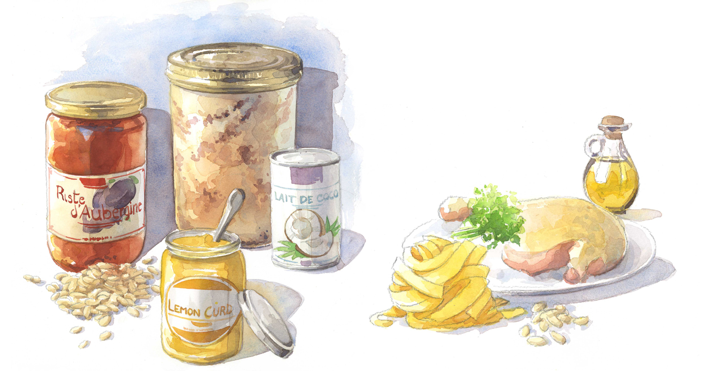 illustration alimentaire aquarelle yves perron 2 05