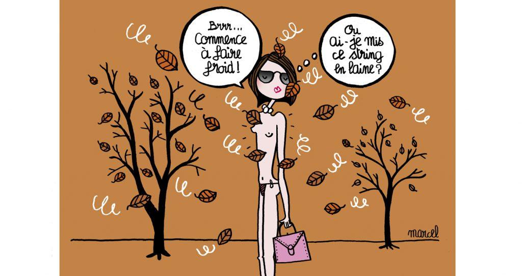 illustration automne dessin de presse