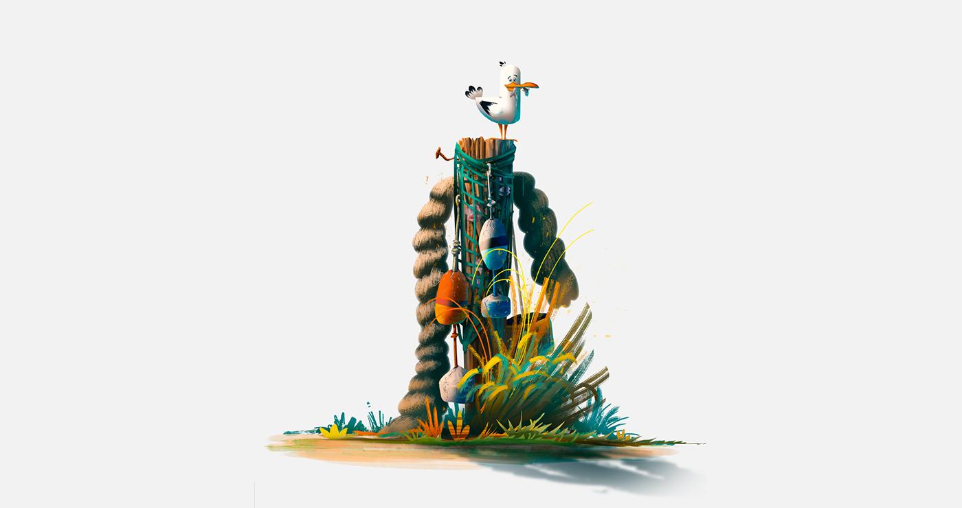 illustration benoit tastet animaux la mouette