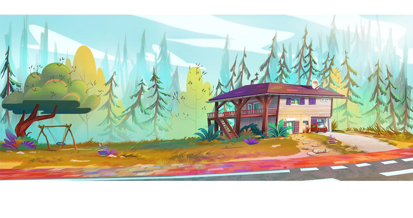 illustration benoit tastet maison cartoon 1