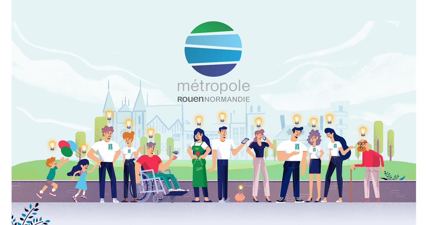 illustration benoit tastet personnages metropole rouen