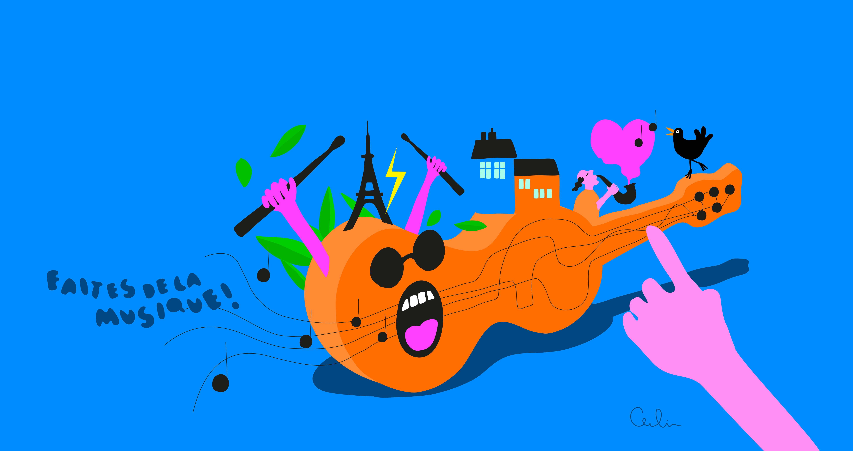 illustration cecilia rehbinder musique fête 06