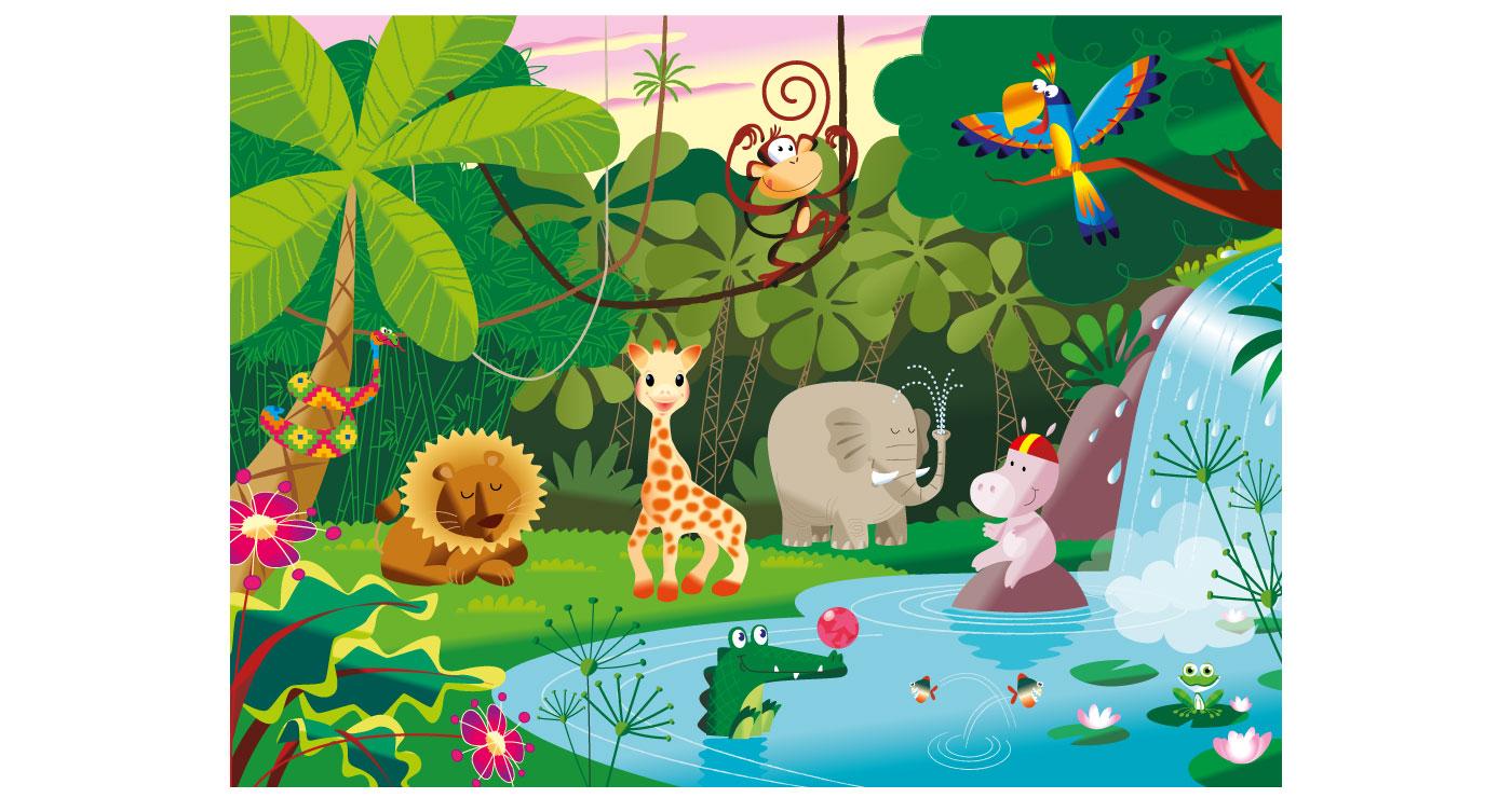 illustration erick duhamel jungle la redoute