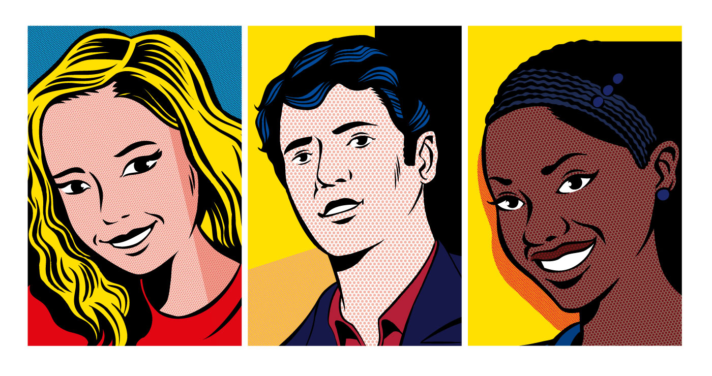 illustration erick duhamel portraits pop art