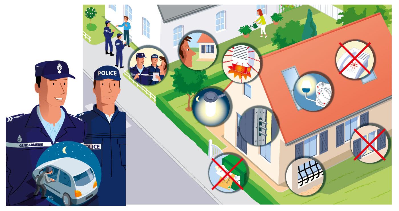 illustration erick duhamel vacances gendarmerie