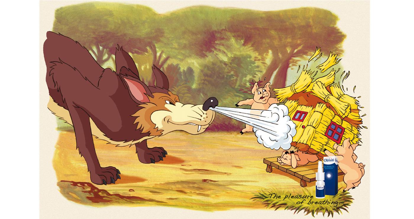 illustration fred van deelen a la maniere de loup et cochons