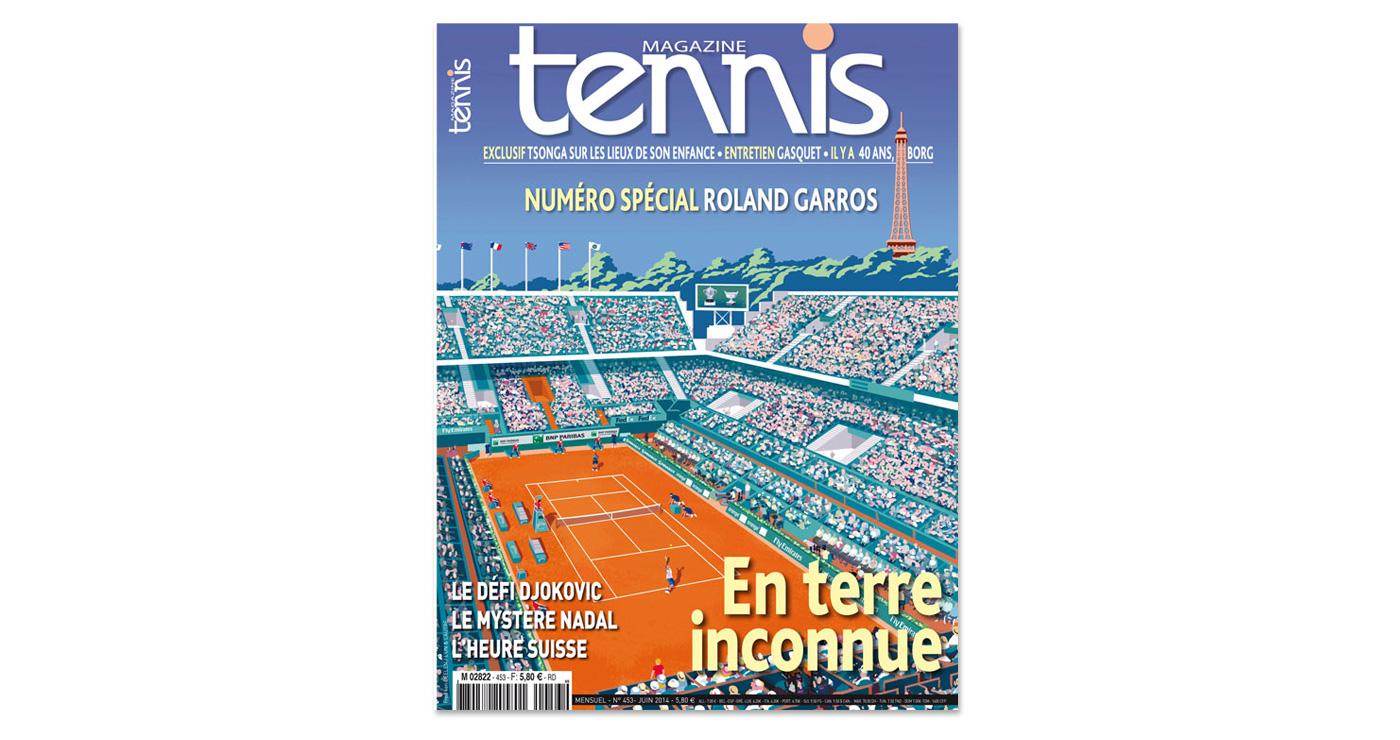 illustration fred van deelen editions couverture tennis