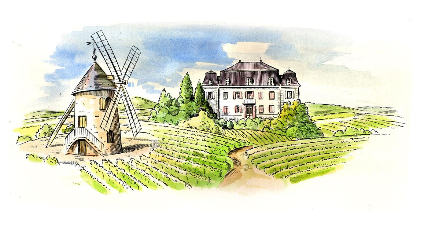 illustration fred van deelen paysages chateau 01