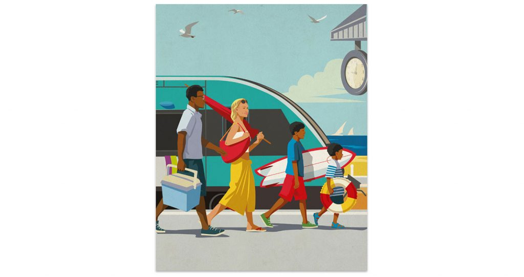 illustration poster surf