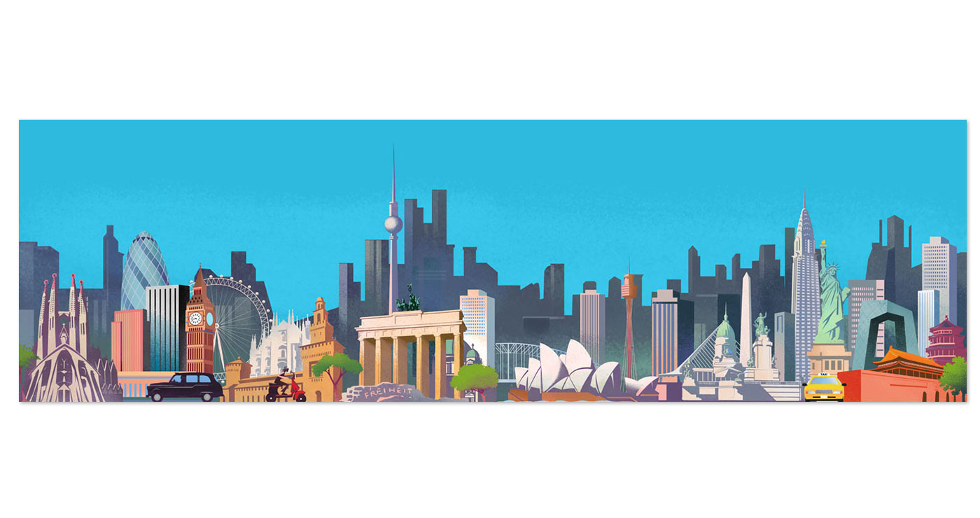 illustration fred van deelen urbanisme villes