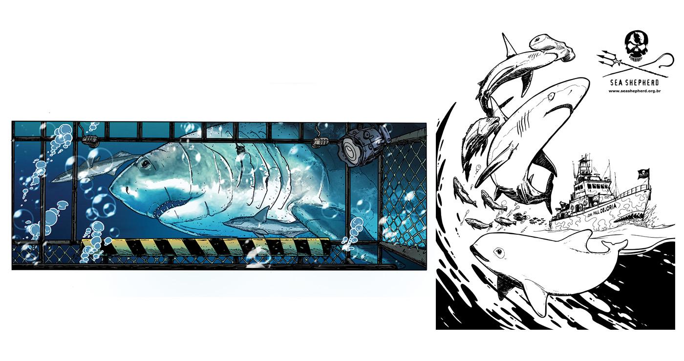 illustration guillaume mazurage animaux bd réaliste 02