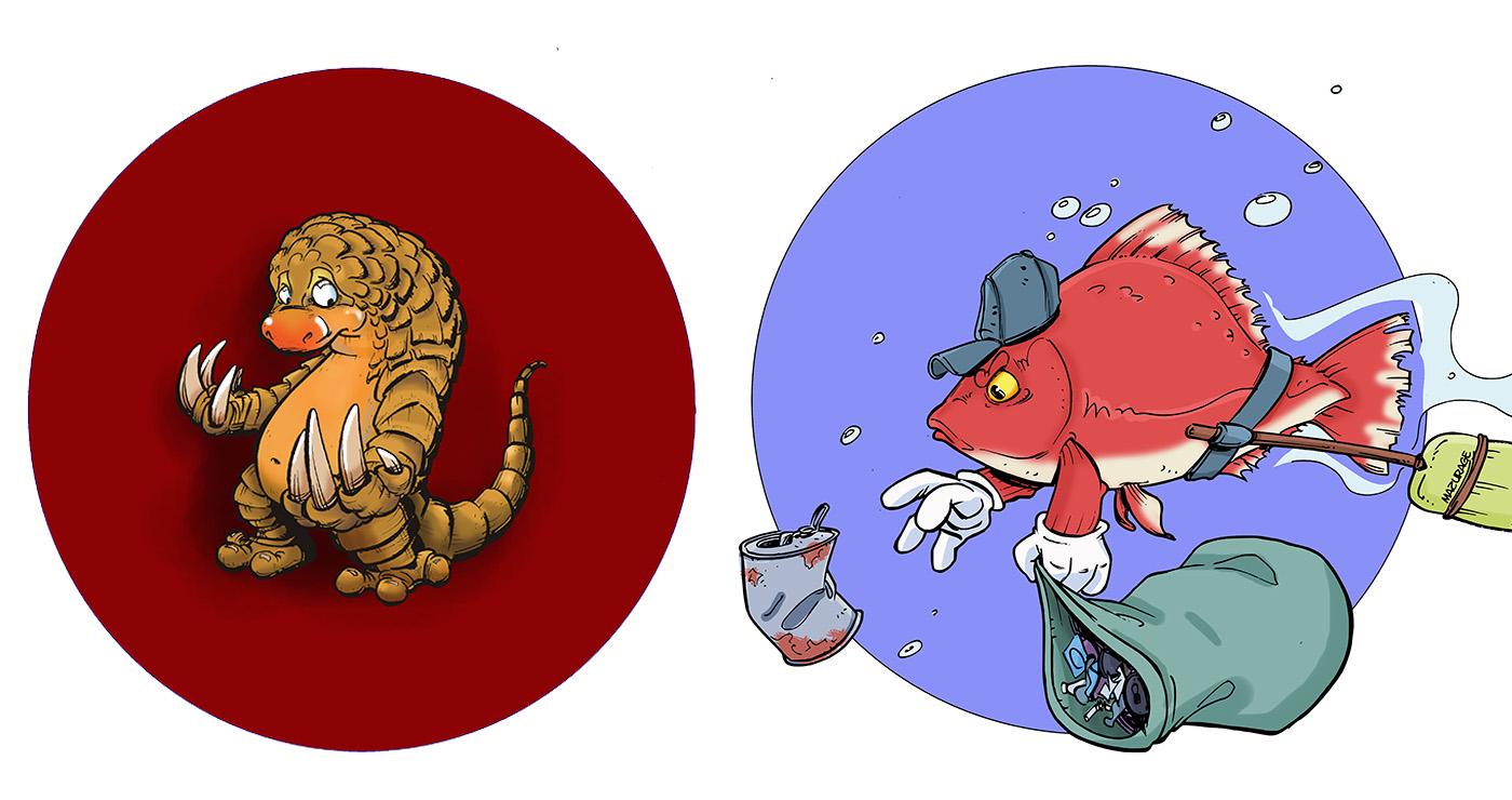 illustration guillaume mazurage animaux logo 02