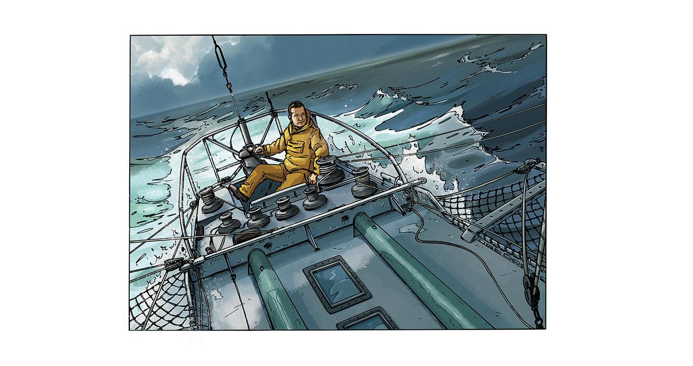 illustration guillaume mazurage bd réaliste bateau 02
