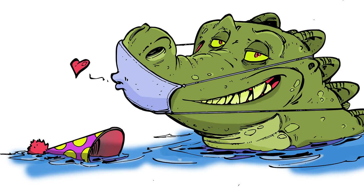 illustration guillaume mazurage crocodile animaux 02