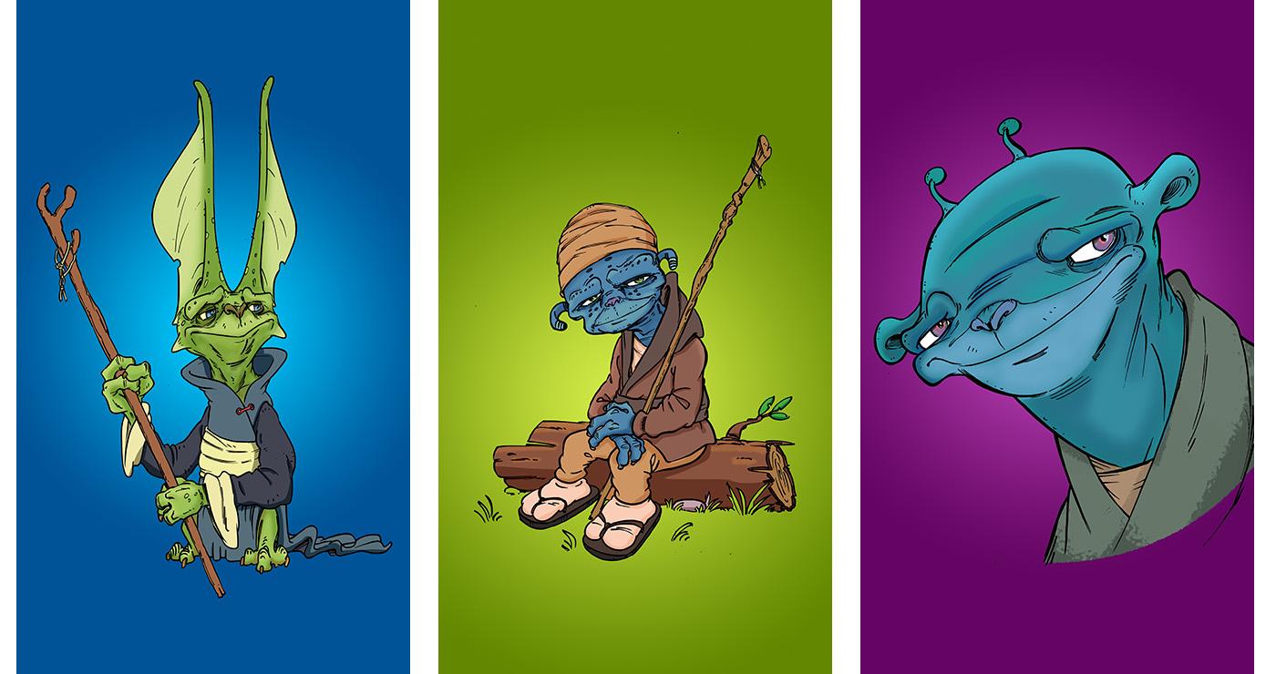 illustration guillaume mazurage mascotte alien 05