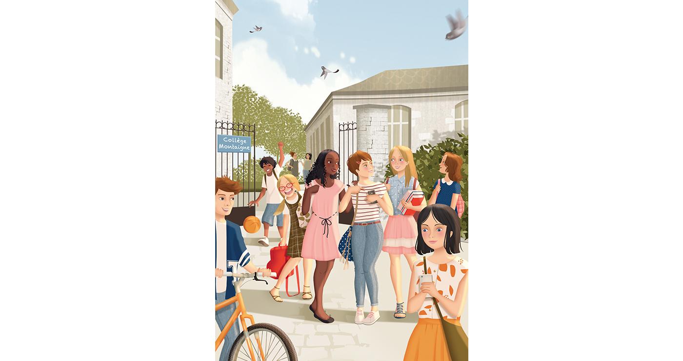 illustration mlle valentine Edition vacances en provence 02 07