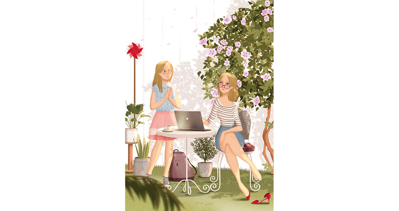 illustration mlle valentine editions vacances en provence 03 07