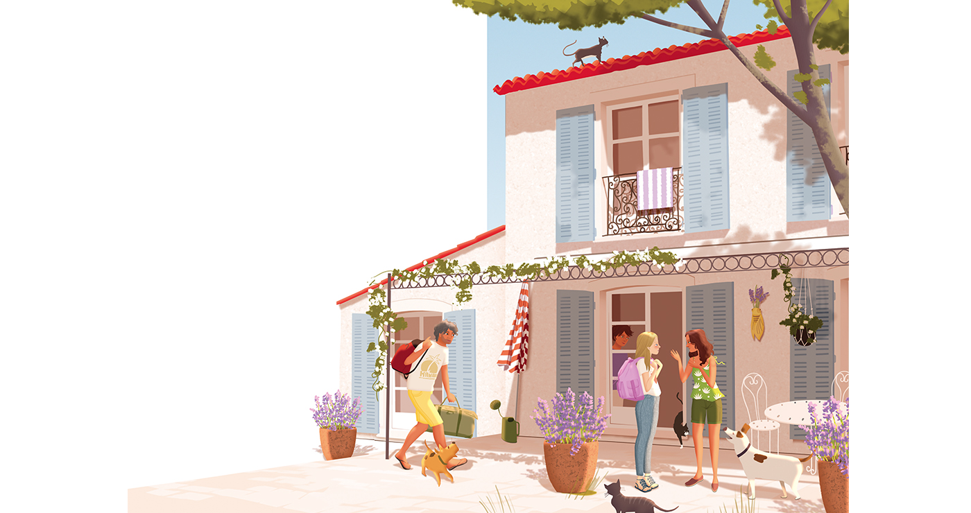 illustration mlle valentine editions vacances en provence 05 07