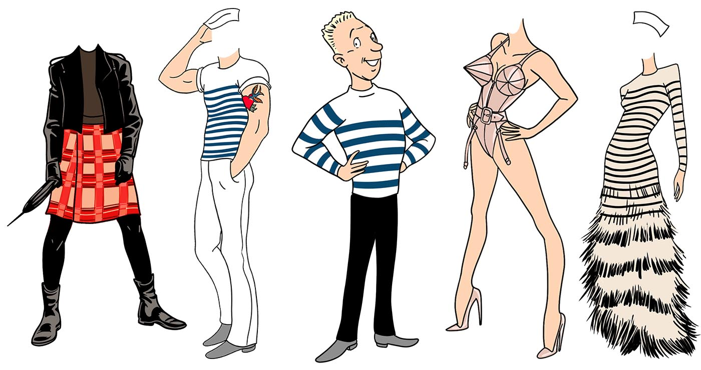 illustration olivier le discot personnages jpgaultier2 01