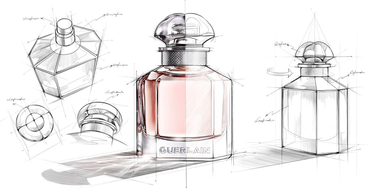 illustration richard ngo Guerlain