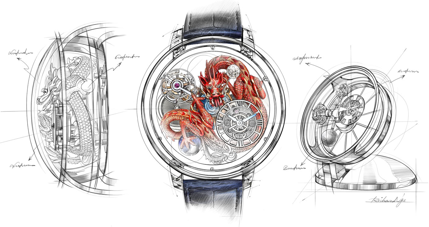 illustration richard ngo montre luxe