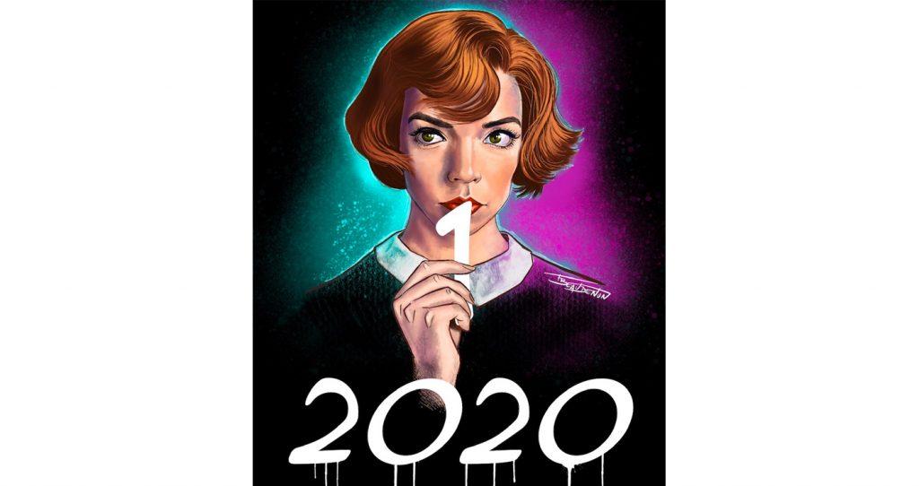 carte de voeux pinup 2021