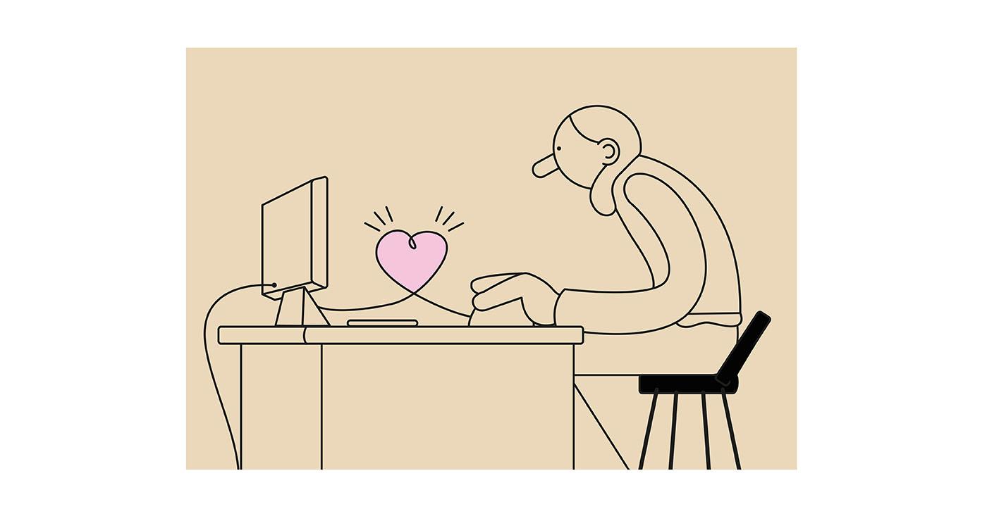 illustration thomas gaudinet love technologie