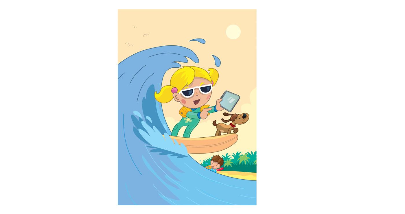 illustration vernius lili surf