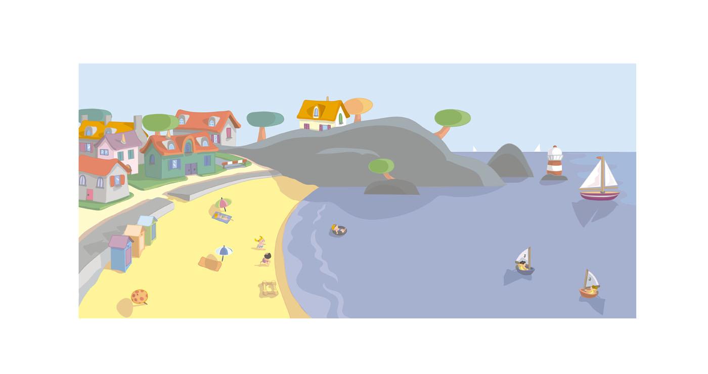 illustration vernius plage vacances