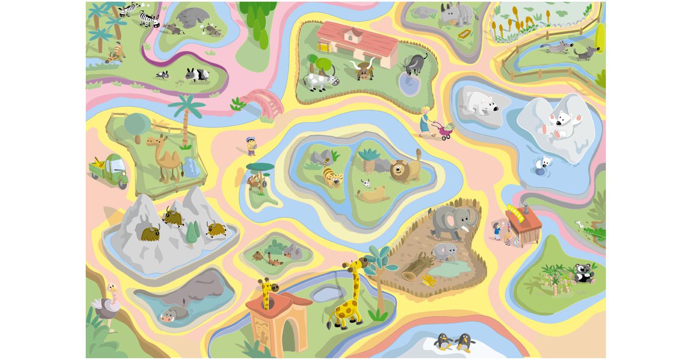 illustration vernius zoo