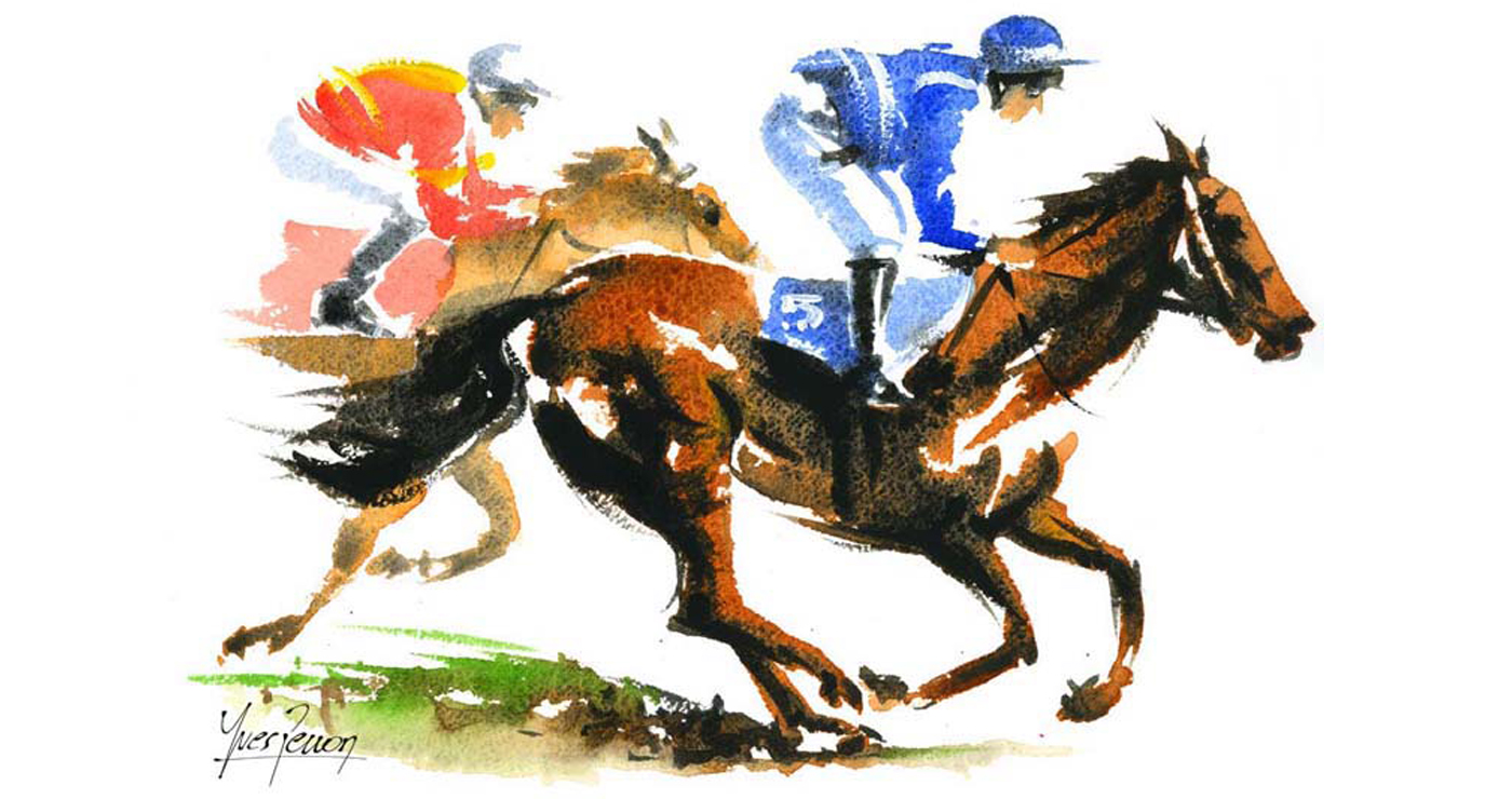 illustration-yves-perron-aquarelle-chevaux-galop