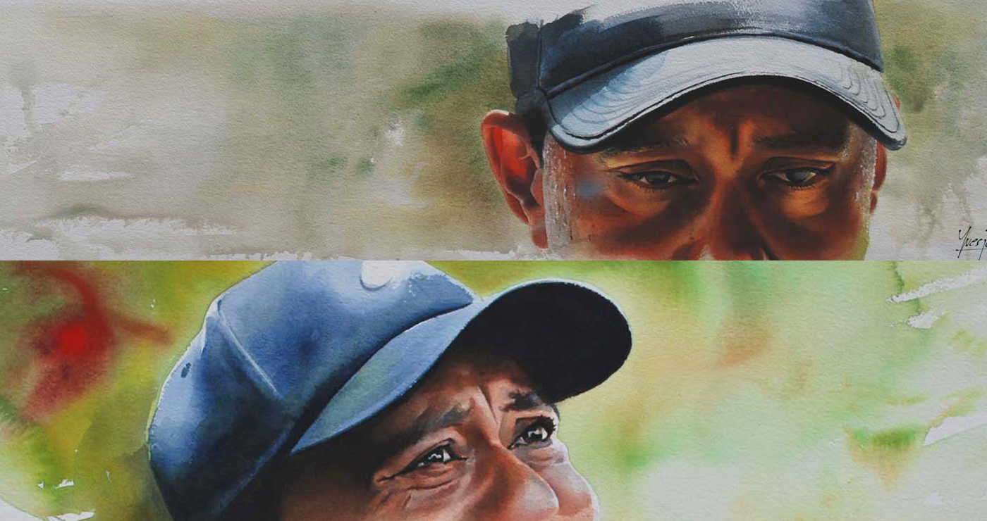illustration-yves-perron-aquarelle-portrait-tiger-woods