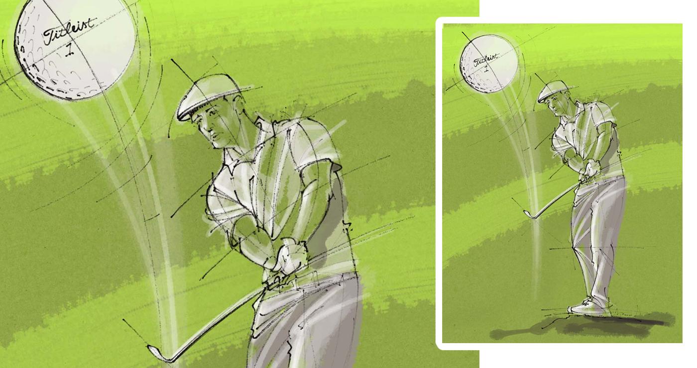 illustration yves perron golf fitleist 05