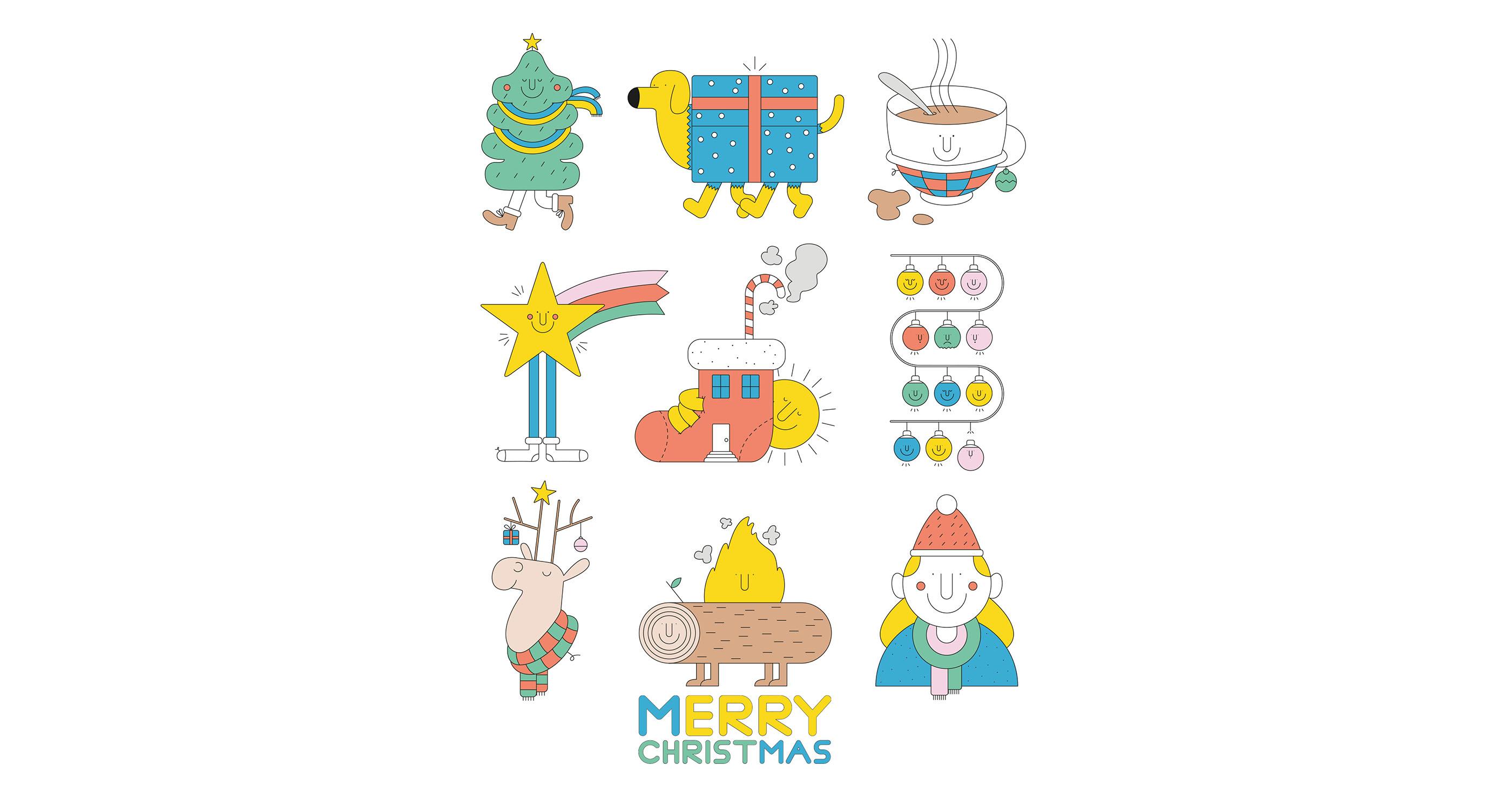 illustrations thomas gaudinet Merry Christmas