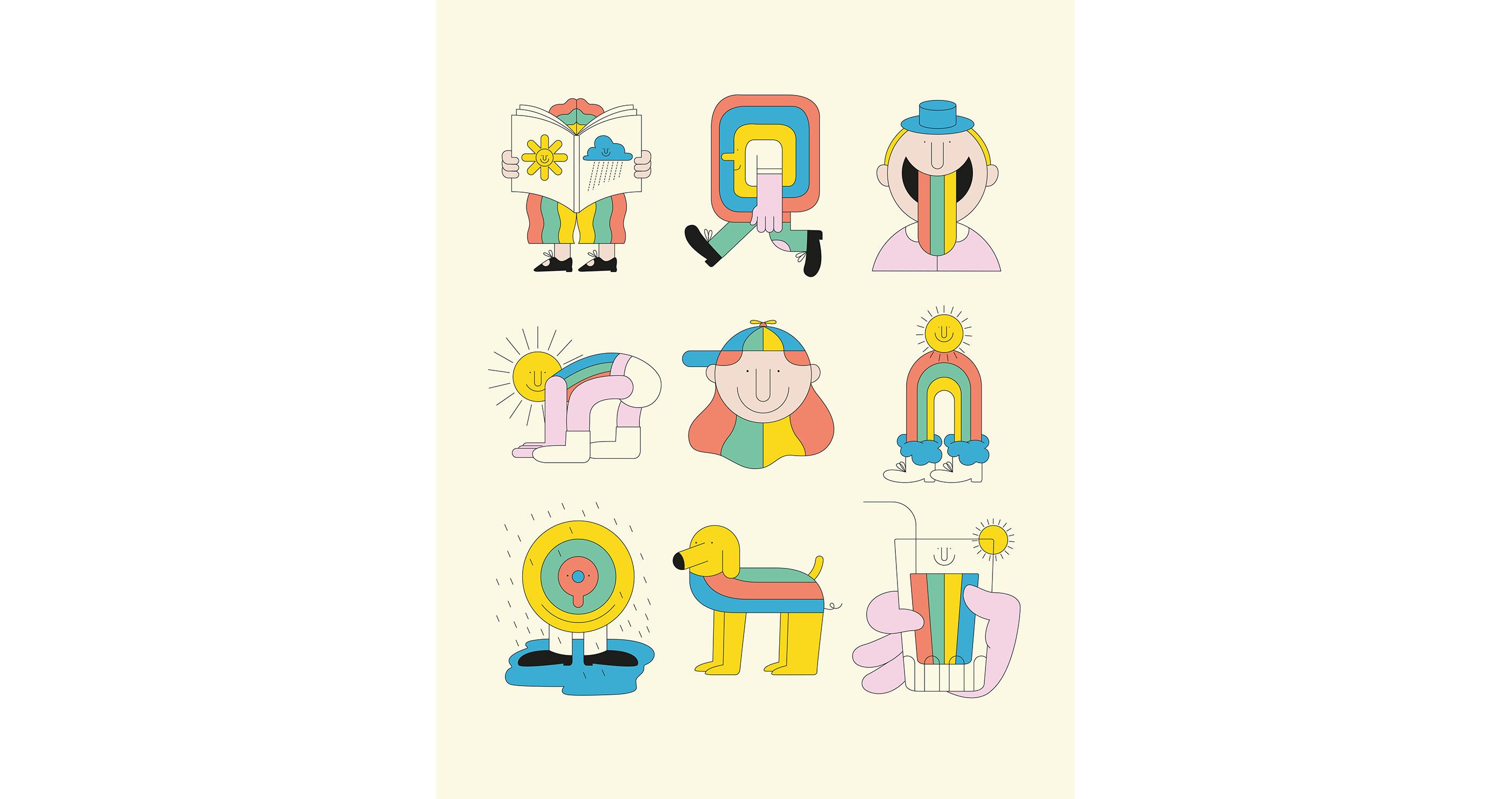 illustrations thomas gaudinet rainbow