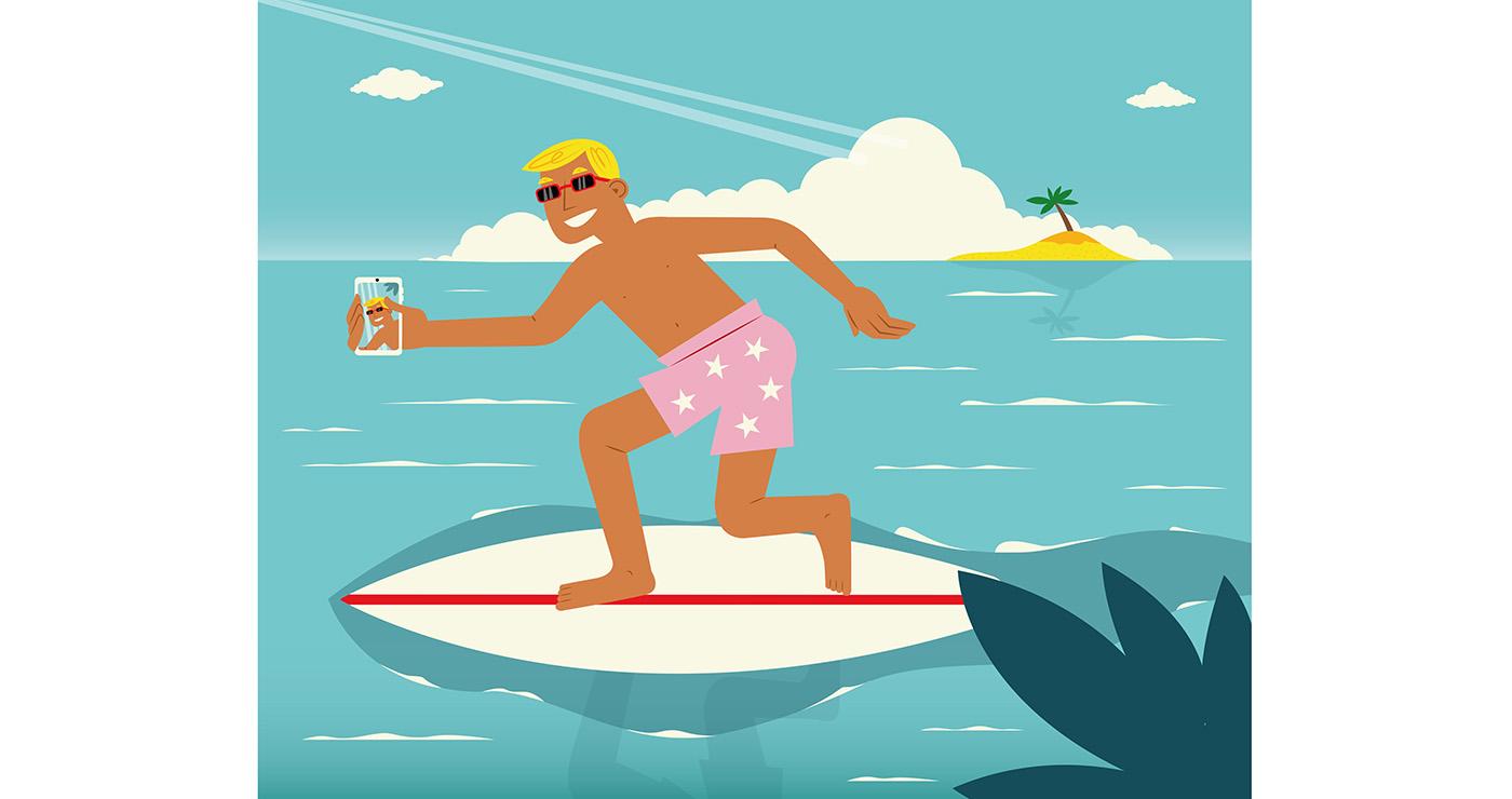 illustrations thomas gaudinet surf